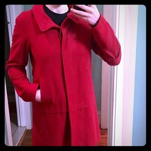 Red button down Nine West coat